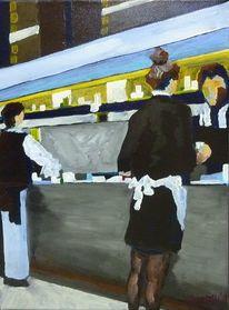 Grau, Gaststätte, Malerei, Bar