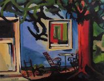 Tür, Baum, Stuhl, Fenster
