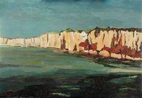 Küste, Felsen, Meer, Normandie