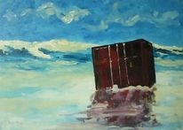 Wasser, Malerei, Strand, Landschaft
