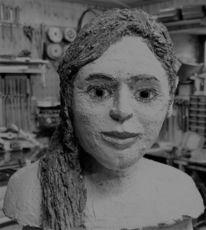 Frau, Figur, Büste, Gesicht