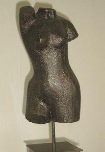 Weiblich, Metall, Bronze, Plastik