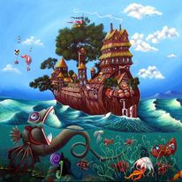 Auswanderer, Leben, Vision, Malerei