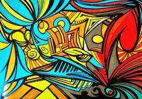 Zeichnung, Dynamik, Surreal, Zeichnungen