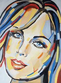 Frau, Abstrakte kunst, Gemälde abstrakt, Acrylmalerei