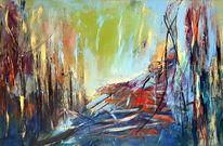 Abstrakte malerei, Moderne malerei, Moderne kunst, Acrylmalerei