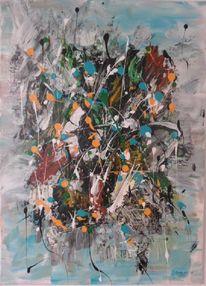 Abstrakte malerei, Abstrakte kunst, Moderne malerei, Grün