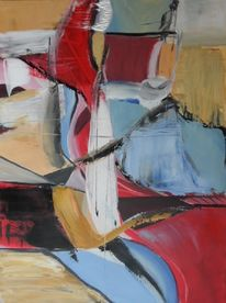 Rot, Gelb, Abstrakte kunst, Gemälde