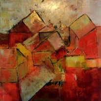 Gemälde, Arhitektur, Moderne kunst, Spachteltechnik