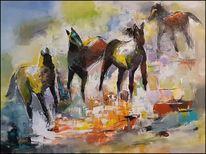 Moderne malerei, Spachteltechnik, Abstrakte malerei, Gemälde