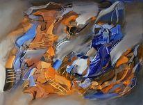 Abstrakte kunst, Blau, Zeitgenössische kunst, Gemälde