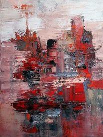 Zeitgenössische kunst, Acrylmalerei, Zeitgenössische malerei, Spachteltechnik