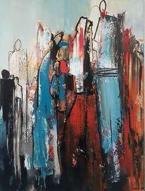 Acrylmalerei, Menschen, Abstrakte malerei, Moderne malerei