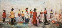 Zeitgenössische malerei, Expressionismus, Acrylmalerei, Malerei