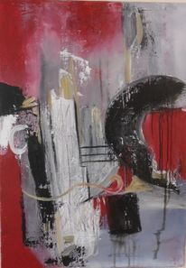 Struktur, Moderne kunst, Moderne malerei, Rot