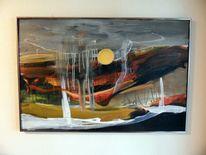 Abstrakte kunst, Mischtechnik, Abstrakte malerei, Moderne malerei