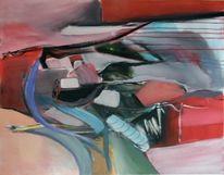 Abstrakte kunst, Rot, Abstrakte malerei, Moderne malerei