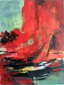 Schicht, Rot, Abstrakte malerei, Moderne malerei