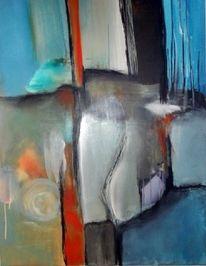 Gemälde, Rot, Abstrakte kunst, Mischtechnik