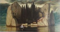 Felsen, Toteninsel, Symbolismus, Zypressen