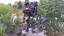 Metalskulptur, Metallroboter, Metall, Kunsthandwerk