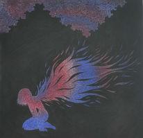 Malerei, Fantasie, Engel, Stern