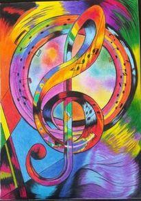 Note musik, Rot, Surreal, Abstrakt