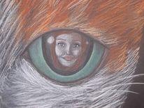 Portrait, Frau, Pastellmalerei, Zeichnungen