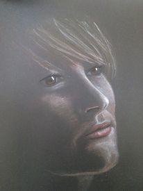 Frau, Pastellmalerei, Selbstportrait, Zeichnungen