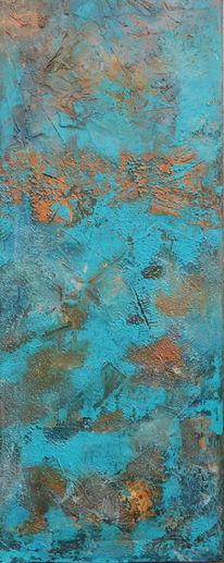 Türkis, Abstrakt, Bilder eigene, Acrylmalerei