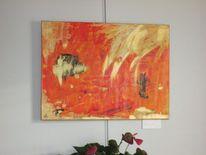 Abstrakt, Mischtechnik, Gold, Malerei