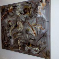 Braun, Spachtel, Acrylmalerei, Abstrakt