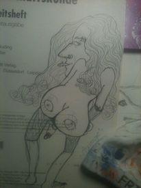 Hoden, Mann, Zunge, Zeichnungen