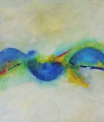 Kugel, Kreis, Blau, Modern