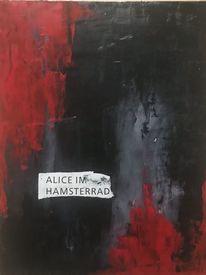 Surreal, Schwarz, Abstrakt, Mix media