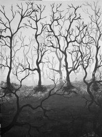 Acrylmalerei, Dunkel, Malerei, Düster