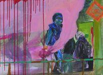 Malerei, Gemälde, Mappenvorbereitung, Ausstellung