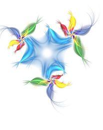 Fraktalkunst, Farben, Blüte, Hoffung