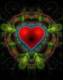 Herz, Digital, Utopie, Farben