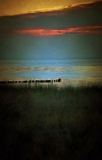 Meer, Farben, Strand, Sonnenuntergang