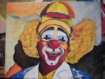 Mens, Malerei, Clown, Portrait