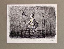 Tinte, Zeichnung, Kugelschreiber, Schwarz weiß