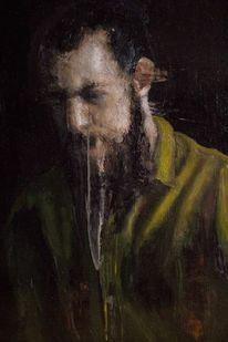 Mann, Ölmalerei, Portrait, Figurativ