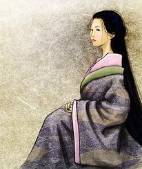 Frau, Portrait, Asien, Zeichnung