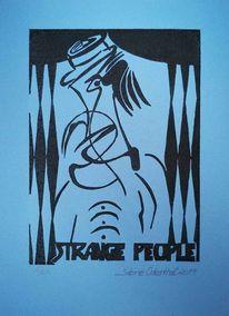 Druckgrafik, Menschen, Person, Druck