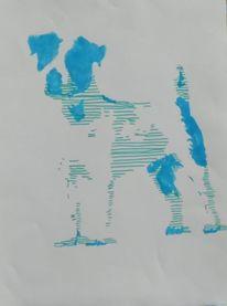 Hund, Abstrakt, Pop art, Jack russell terrier