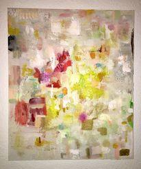 Acrylmalerei, Gelb, Weiß, Sommer