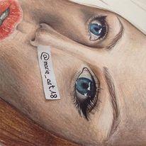 Augen, Blau, Portrait, Zeichnung