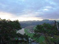 Elbsandsteingebirge, Stein, Baum, Elbe