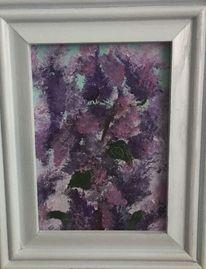 Flieder, Lila, Ölmalerei, Pflanzen